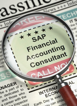 We are Hiring SAP Financial Accounting Consultant. 3D. Stock Photo