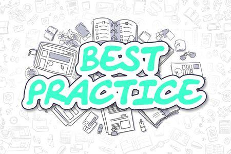 smart goals: Best Practice - Doodle Green Word. Business Concept.