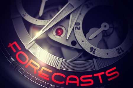 Forecasts on the Luxury Wrist Watch Mechanism. 3D.