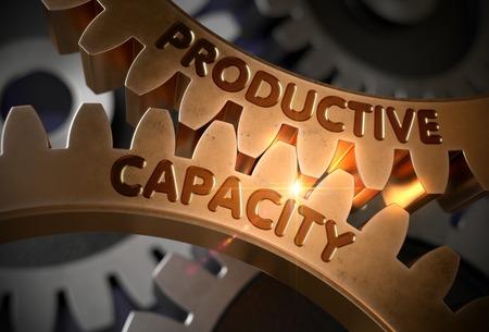 Productive Capacity. 3D. Stock Photo