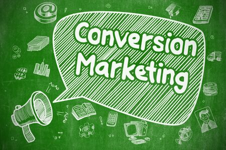 Conversion Marketing - Business Concept. Stock Photo