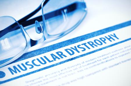 myopathy: Muscular Dystrophy. Medicine. 3D Illustration.