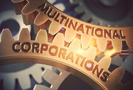 Multinational Corporations. 3D. Stock Photo