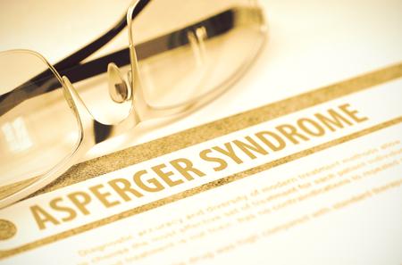 asperger syndrome: Asperger Syndrome. Medicine. 3D Illustration.