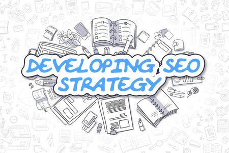 seo: Developing SEO Strategy - Business Concept.