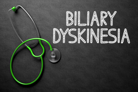 Biliary Dyskinesia Concept on Chalkboard. 3D Illustration.