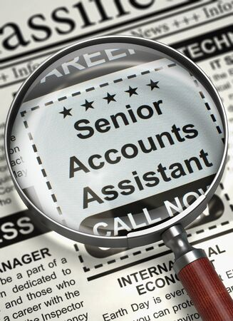 function key: Senior Accounts Assistant Wanted. 3D.
