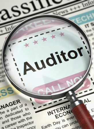 Auditor Wanted. 3D.