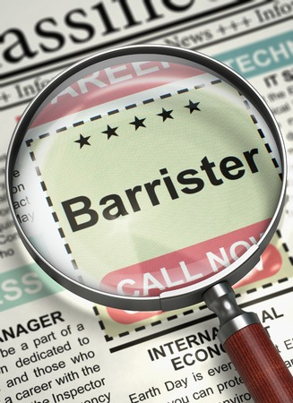 barrister: Barrister Join Our Team. 3D.