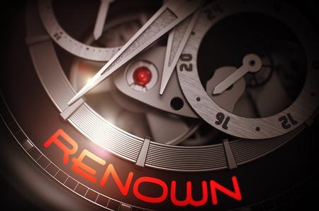 resplendence: Renown on the Men Wrist Watch Mechanism. 3D.