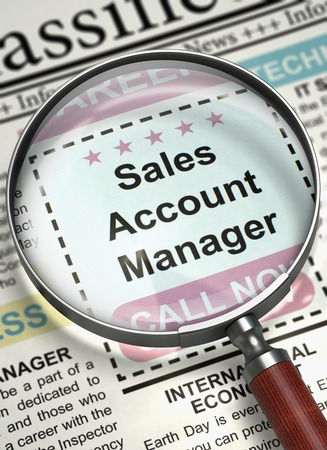 function key: Sales Account Manager Wanted. 3D. Stock Photo