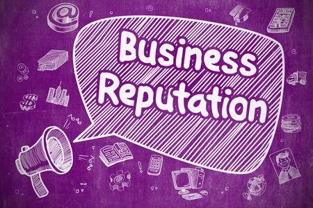 prestige: Business Reputation - Business Concept. Stock Photo