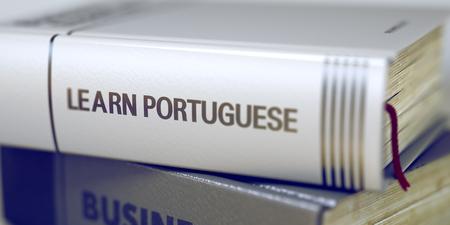 Learn Portuguese - Book Title. 3d.