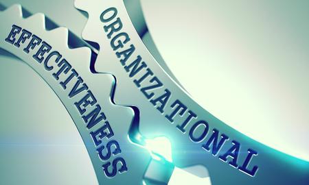 Organizational Effectiveness - Mechanism of Metal Cog Gears . 3D