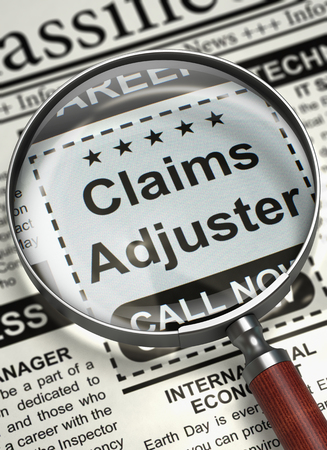 We are Hiring Claims Adjuster. 3D.