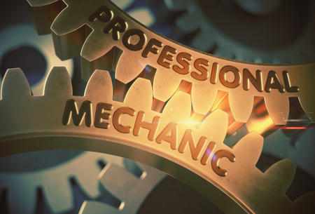 Professional Mechanic. 3D. Stock Photo
