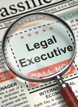 We are Hiring Legal Executive. 3D. Stock Photo