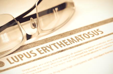 critical conditions: Lupus Erythematosus. Medicine. 3D Illustration.