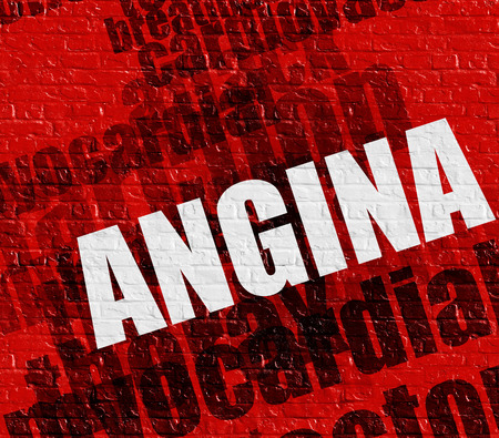 Healthcare concept: Angina on the Red Wall .