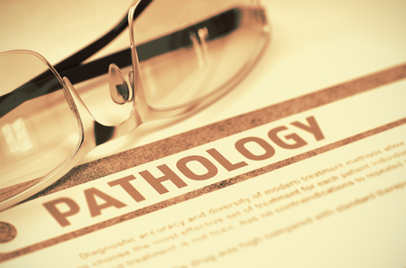 pathogenesis: Diagnosis - Pathology. Medical Concept. 3D Illustration. Stock Photo