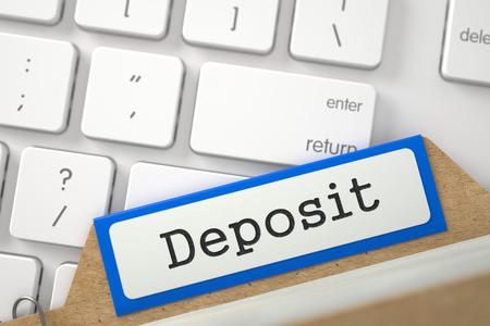 rent index: Folder Register with Deposit. 3d.