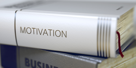 Motivation - Business Book Title. 3d.
