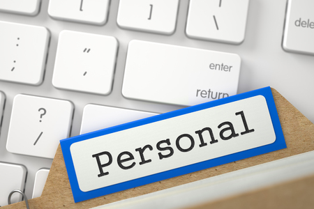 personally: Folder Register with Personal. 3d.