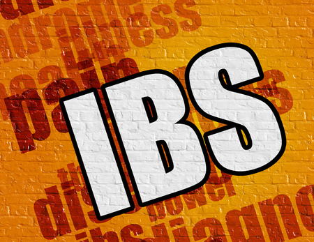 Healthcare concept: Ibs on the Yellow Wall .