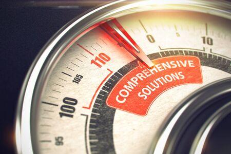Comprehensive Solutions - Business Mode Concept. 3D.