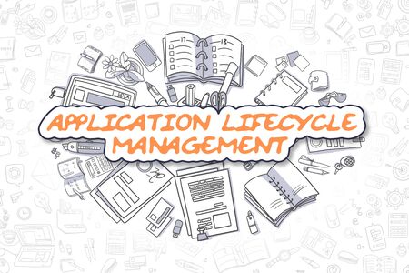 lifecycle: Application Lifecycle Management - Business Concept.