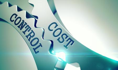 Cost Control - Mechanism of Metal Cogwheels. 3D.