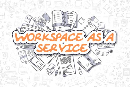 web portal: Workspace As A Service - Business Concept. Stock Photo