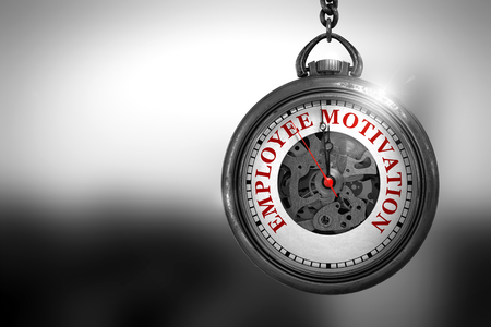 Employee Motivation on Pocket Watch Face. 3D Illustration. Stock Photo