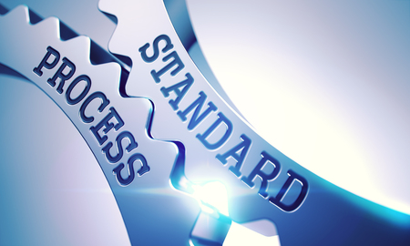Standard Process - Mechanism of Metal Cogwheels . 3D .
