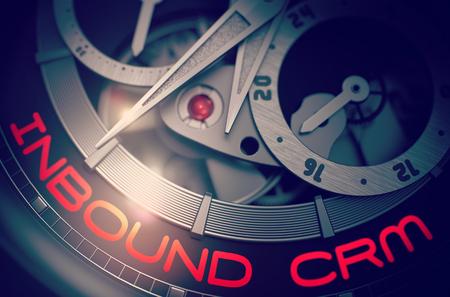Inbound CRM auf Automatik Herrenuhr Mechanismus. 3D