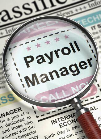 We are Hiring Payroll Manager. 3D. Lizenzfreie Bilder