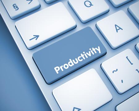 Produktivität - Meldung auf Tastatur Tastatur. 3D