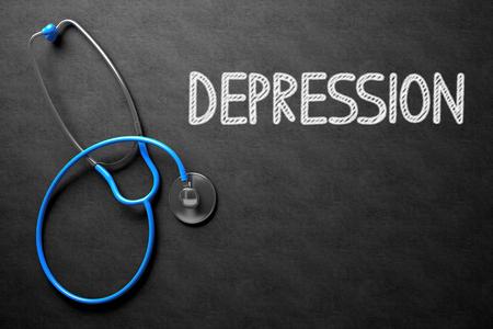 Tafel mit Depression. 3D Abbildung.
