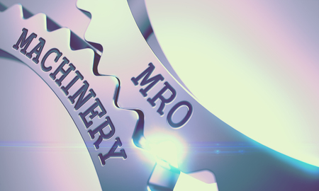 MRO Maschinen - Mechanismus der Metall Zahnräder. 3D Lizenzfreie Bilder