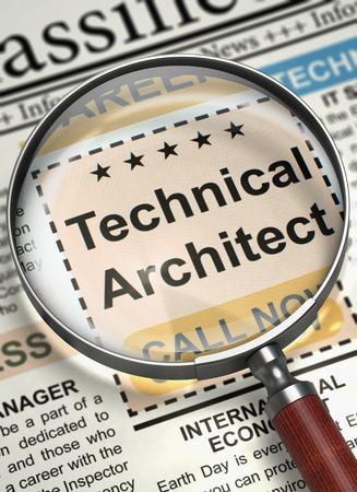 Berufsausbildung Technischer Architekt. 3D Lizenzfreie Bilder