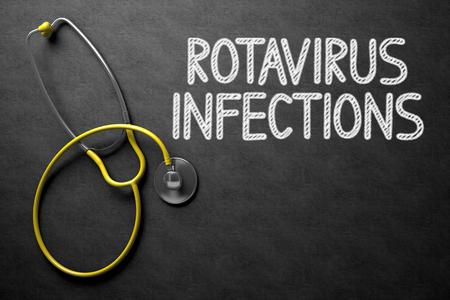 Rotavirus-Infektionen auf Tafel. 3D Abbildung. Lizenzfreie Bilder