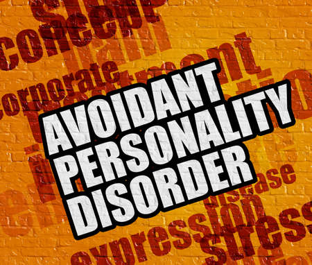 Modernes Gesundheitswesen Konzept: Vermeidende Persönlichkeitsstörung auf Yell