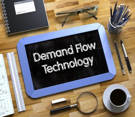 Kleine Tafel mit Demand Flow Technology Concept. 3D Lizenzfreie Bilder