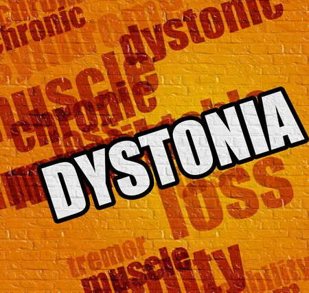 Healthcare concept: Dystonia on the Yellow Wall .