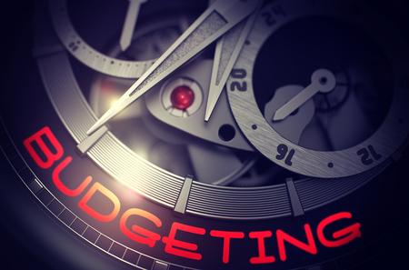 Budgeting on Men Watch Mechanism. 3D.