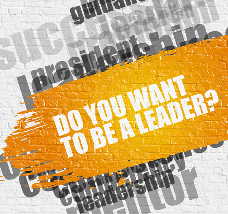 Do You Want To Be A Leader on Brick Wall.