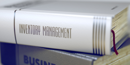 Book Title of Inventory Management. 3D.