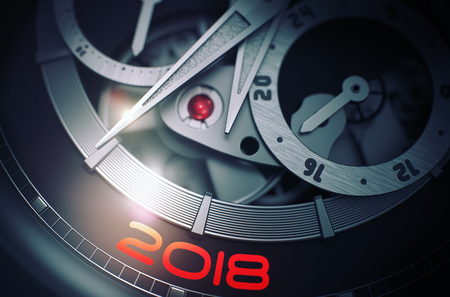 2018 on Men Wrist Watch Mechanism. 3D.
