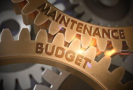 Maintenance Budget on Golden Gears. 3D Illustration.