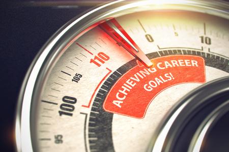 Achieving Career Goals - Business Mode Concept. 3D.
